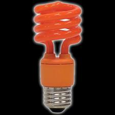 60 Watt Orange Flourescent Party Bulb