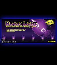 Blacklight/Purple String Light 25pc Set