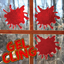 3D Bloody Window Gel Clings Splat