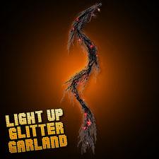 Light Up Glitter Garland Orange