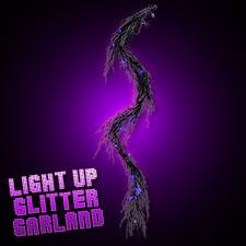 Light Up Glitter Garland Purple