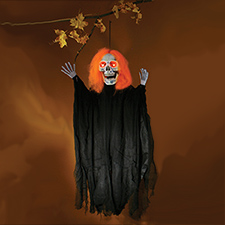 36in Light Up Glow-In-The-Dark Reaper Orange Hair