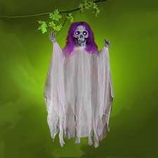 36in Light Up Glow-In-The-Dark Reaper Purple Hair