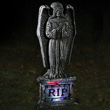 "30"" Light-Up Gothic Tombstone - Wings"