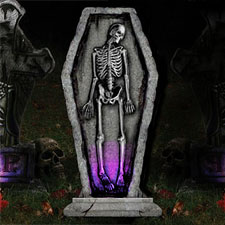 "30"" Light-Up Gothic Tombstone - Skeleton"
