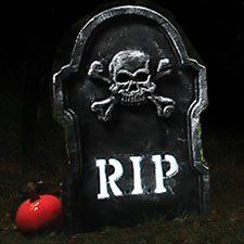 LED Bone Tombstone - RIP