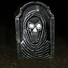 LED Bone Tombstone - Big Skull Face