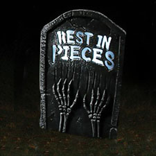 LED Bone Tombstone - Rest In Pieces