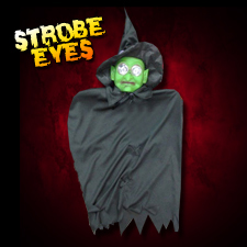 "24"" Hanging Witch - Strobe Eyes"