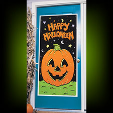 Pumpkin Happy Halloween Door Cover