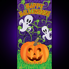 Pumpkin Vines Halloween Door Cover