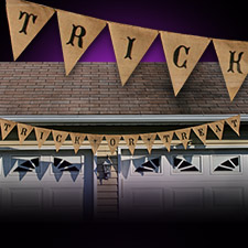Burlap Halloween Banner - Trick or Treat