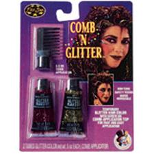Fuschia & Gold Comb & Glitter
