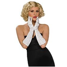 White Stretch Elbow Gloves