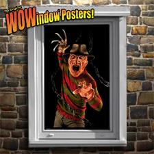 Freddy Krueger Window Poster